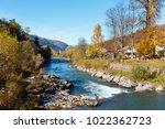 autumn carpathian mountain... | Shutterstock . vector #1022362723