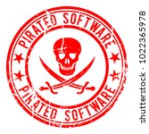 pirated software  stamp with a...