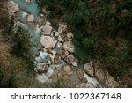 top view of powerful azure... | Shutterstock . vector #1022367148