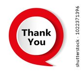 red button. thank you  icon.... | Shutterstock .eps vector #1022371396
