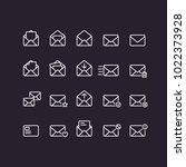 outline mail icons | Shutterstock .eps vector #1022373928