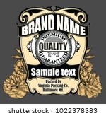 vector vintage label with... | Shutterstock .eps vector #1022378383