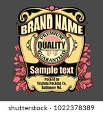 vector vintage label with... | Shutterstock .eps vector #1022378389