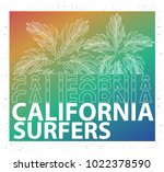 surfers apparel graphic | Shutterstock .eps vector #1022378590