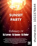 disco night party vector poster ... | Shutterstock .eps vector #1022378644