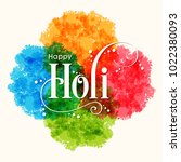 illustration of holi festival... | Shutterstock .eps vector #1022380093