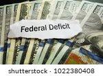 federal deficit newspaper... | Shutterstock . vector #1022380408