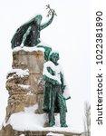Small photo of Snowy Preseren Square in Ljubljana, Ljubljana, Slovenia
