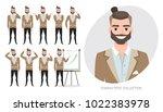 set of emotions for asian... | Shutterstock .eps vector #1022383978