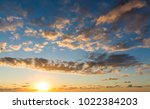 sunset sky and cloud background | Shutterstock . vector #1022384203