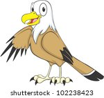 happy eagle cartoon | Shutterstock .eps vector #102238423
