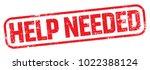help needed stamp   Shutterstock .eps vector #1022388124