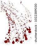 dry blood splatter. modern... | Shutterstock .eps vector #1022389030