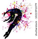 beautiful dancing girl in...   Shutterstock .eps vector #1022391079