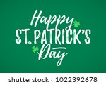 happy st. patrick's day... | Shutterstock .eps vector #1022392678
