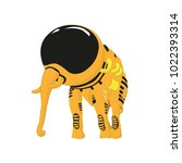 the elephant in the yellow... | Shutterstock .eps vector #1022393314
