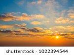 morning sun light shine  with...   Shutterstock . vector #1022394544