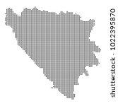pixel mosaic map of bosnia and...