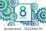 international women's day flyer.... | Shutterstock .eps vector #1022396170