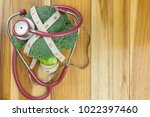 the concept of health care... | Shutterstock . vector #1022397460