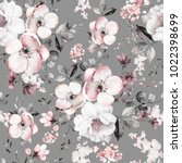 seamless pattern with spring... | Shutterstock . vector #1022398699