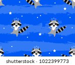 seamless pattern with cute... | Shutterstock .eps vector #1022399773
