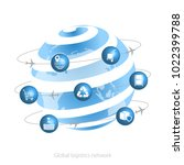 global logistics network. ... | Shutterstock .eps vector #1022399788