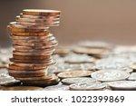 money. stack of russian roubles ... | Shutterstock . vector #1022399869