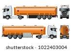 vector realistic tunker truck... | Shutterstock .eps vector #1022403004