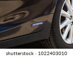 sign of a hybrid car | Shutterstock . vector #1022403010