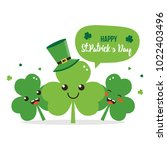 happy st. patrick's day card ... | Shutterstock .eps vector #1022403496