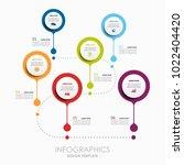infographic template. vector... | Shutterstock .eps vector #1022404420