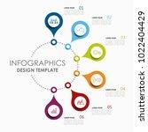 infographic template. vector...   Shutterstock .eps vector #1022404429