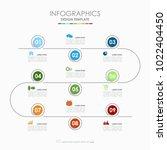 infographic template. vector... | Shutterstock .eps vector #1022404450