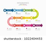infographic template. vector... | Shutterstock .eps vector #1022404453