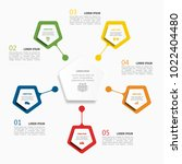 infographic template. vector... | Shutterstock .eps vector #1022404480
