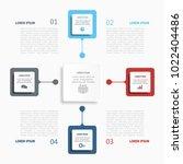 infographic template. vector... | Shutterstock .eps vector #1022404486