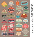 retro design label set 4 | Shutterstock .eps vector #102240550