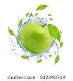 green apple in water splash ...   Shutterstock . vector #102240724