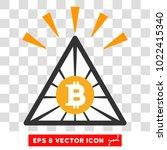 bitcoin pyramid shine eps... | Shutterstock .eps vector #1022415340