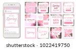 social media banner template.... | Shutterstock .eps vector #1022419750