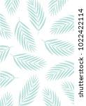 pastel leave pattern fashion...   Shutterstock .eps vector #1022422114