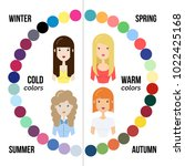 seasonal color analysis. best... | Shutterstock .eps vector #1022425168