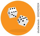 dice flat icon. two game dices. ... | Shutterstock .eps vector #1022425324