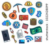 vintage 80s 90s bitcoin fashion ...   Shutterstock .eps vector #1022428099
