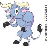 happy bull cartoon   Shutterstock .eps vector #102242866