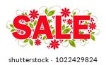 sale sign in red color...   Shutterstock .eps vector #1022429824