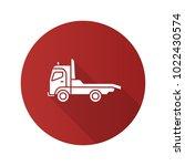 tow truck flat design long... | Shutterstock .eps vector #1022430574