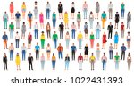 large group of people isolated... | Shutterstock .eps vector #1022431393