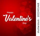 happy valentines day typography ... | Shutterstock .eps vector #1022431468
